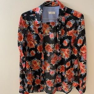 A to Z   Anthropologie floral blouse